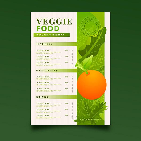 渐变设计沙拉菜单