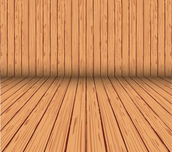 木板木纹背景_矢量背景