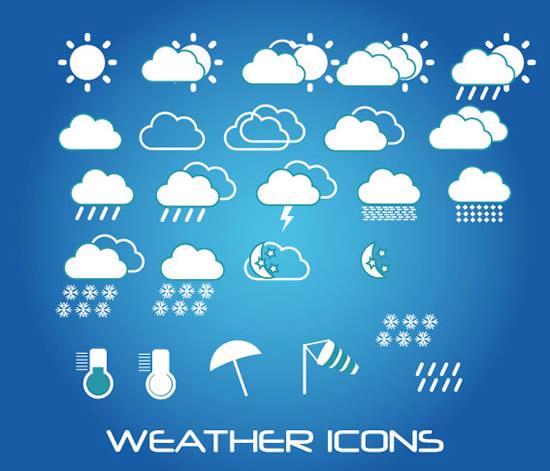 天气预报符号_天气预报符号大全