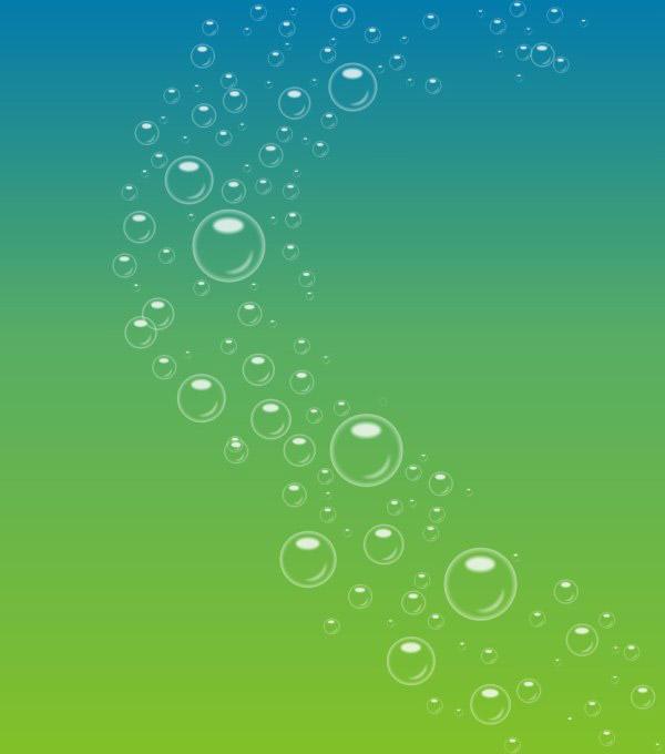 透明泡泡漸變色背景矢量素材,透明泡泡,漸變色背景,清新綠色,免費背景
