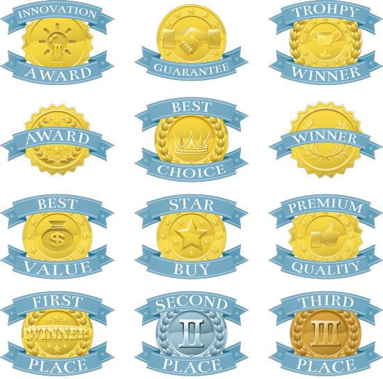 0 点 关键词: 蓝色丝带奖牌矢量图,蓝色丝带,奖牌,奖章,徽章,金牌