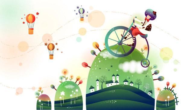 卡通骑自行车的阿拉伯人免费下载