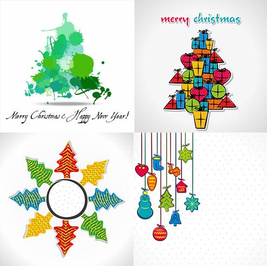 圣诞节图案,创意圣诞树图片