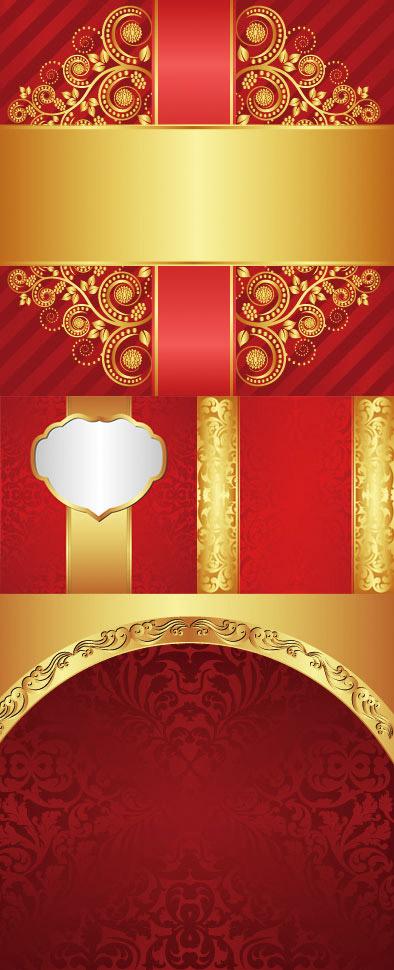 中国风喜庆红色大气背景矢量图素材