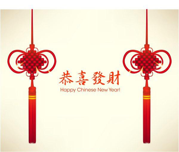 中国结新年贺卡
