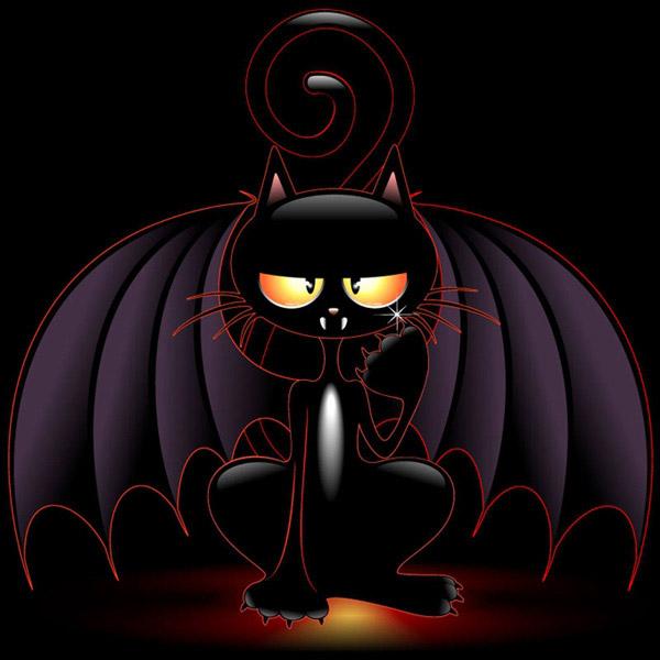 qq头像可爱黑猫超清
