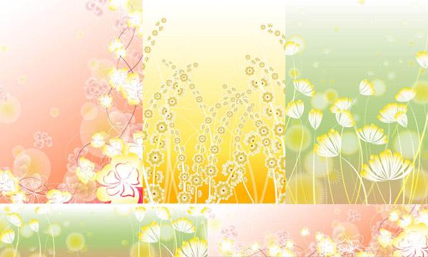 素材分类: 矢量背景所需点数: 0 点 关键词: 唯美花朵花丛图案背景