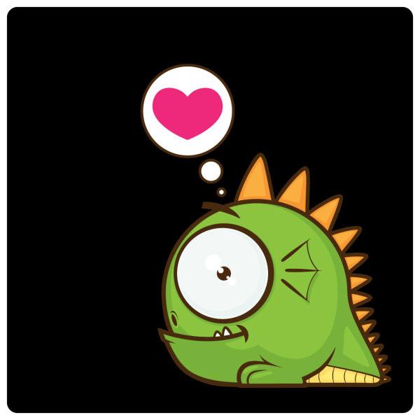 矢量卡通动物所需点数: 0 点 关键词: 绿色小怪兽,绿色,小怪兽,可爱