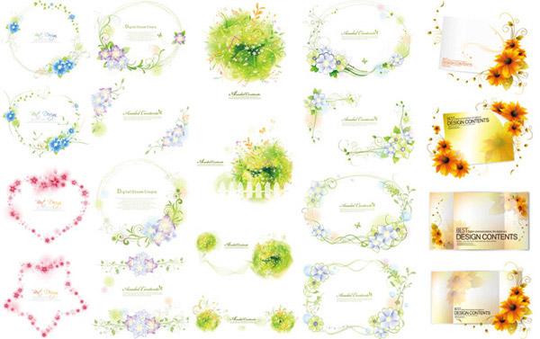 花朵藤蔓边框简笔画-花朵藤蔓边框