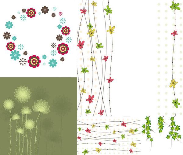 藤蔓类装饰图案简笔画内容图片展示