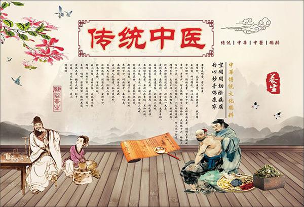 平面广告所需点数: 0 点 关键词: 中式手绘古典传统中医养生宣传海报