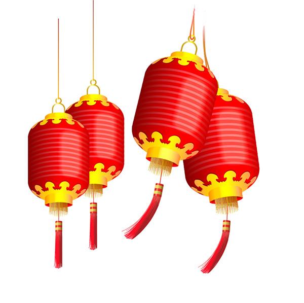 手绘红灯笼_素材中国sccnn.com