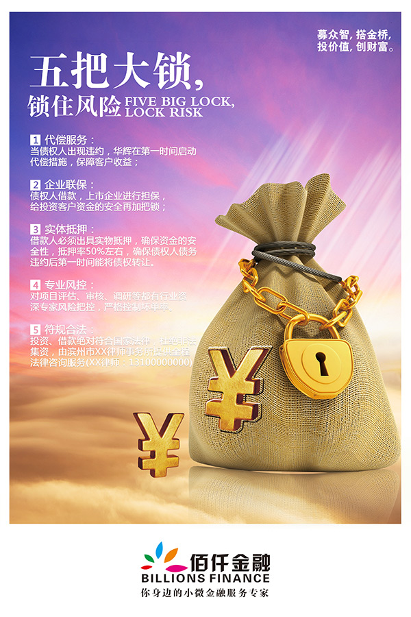 金融银行宣传海报