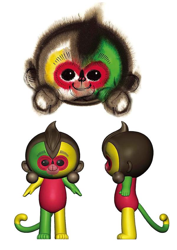 春节猴年手绘图片