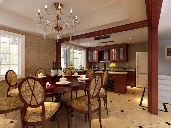 欧式客厅餐厅模型免费下载