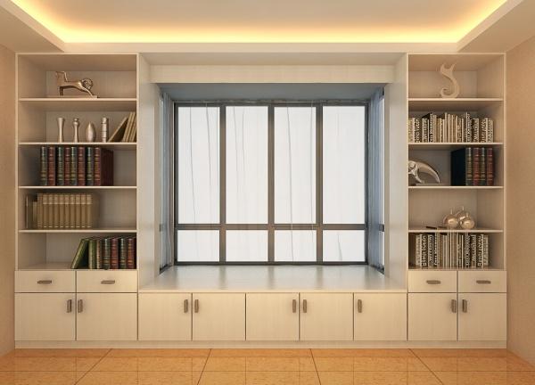 0 点 关键词: 飘窗柜模型设计免费下载,储物柜,家具设计,书柜,飘窗柜