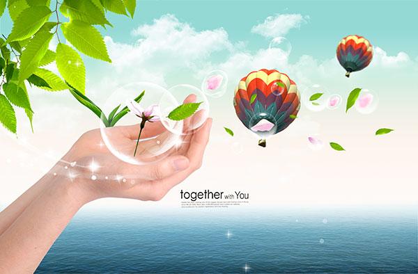 平面广告所需点数: 0 点 关键词: 环保公益海报设计psd分层素材,自然