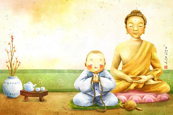 佛教文化插画