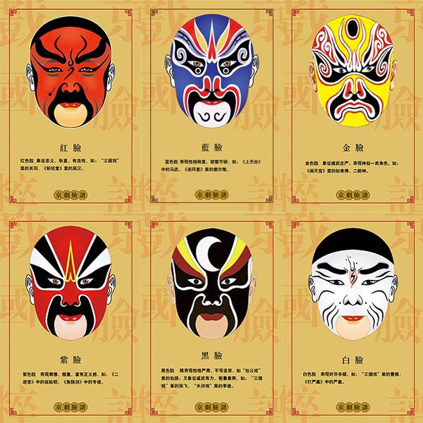 京剧脸谱文化海报图片