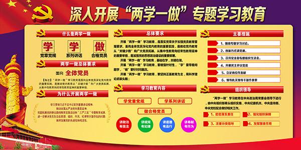 两学一做教育展板_素材中国sccnn.com