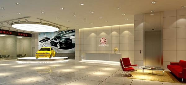 汽车销售大厅模型
