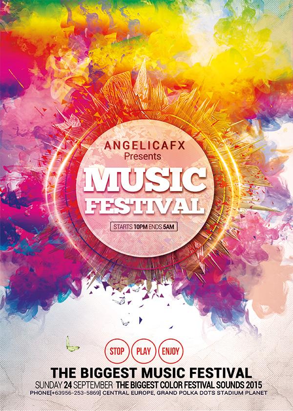 时尚海报设计,活动海报设计,音乐节活动宣传海报,音乐节海报设计,炫彩