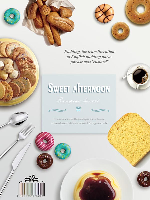 甜甜圈手绘海报