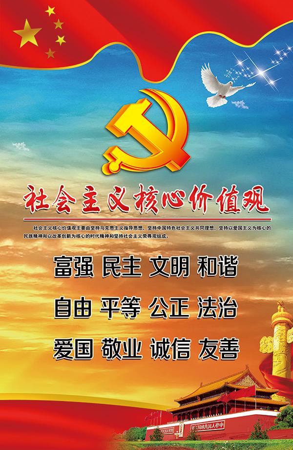 核心价值观展板_素材中国sccnn.com