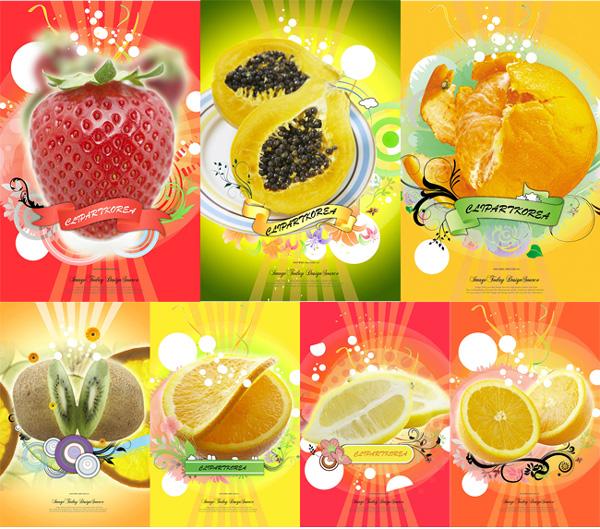 美食创意海报手绘