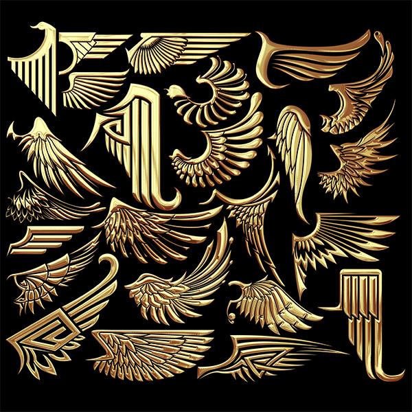 金属质感翅膀