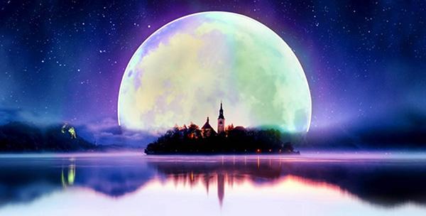 城堡,唯美背景图片,背景图片设计素材,图片素材,中秋月亮图片,中秋节