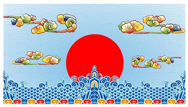 花纹边框所需点数: 0 点 关键词: 传统节日花纹psd分层素材,中国风