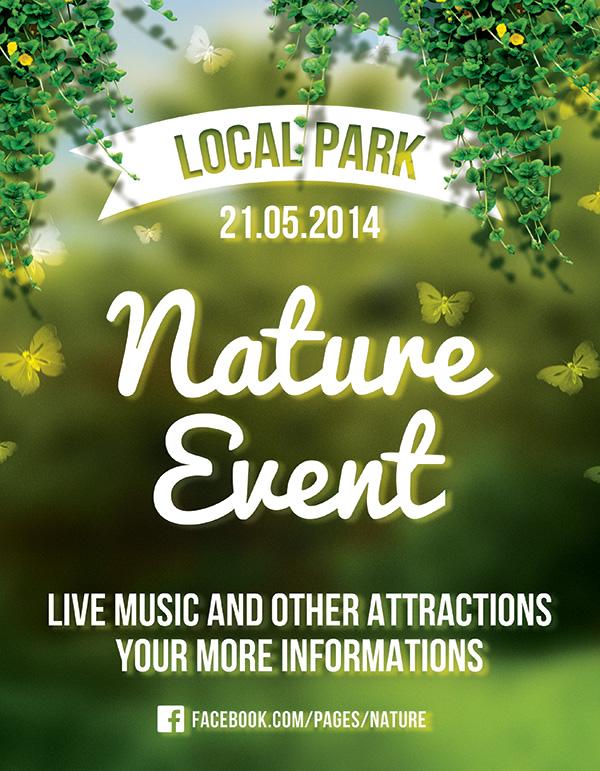 绿色自然公园海报