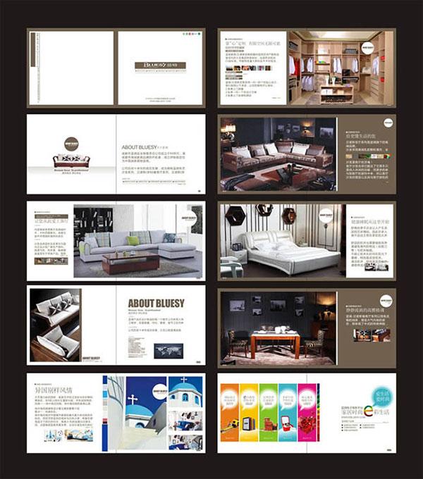 平面广告所需点数: 0 点 关键词: 家具企业宣传画册设计模板cdr素材图片