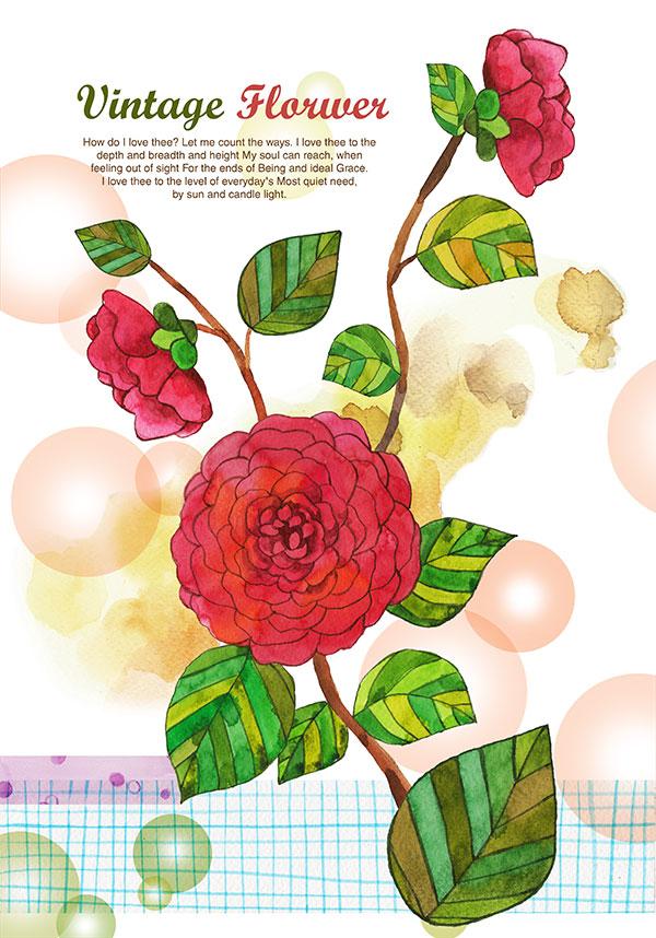 唯美图片设计,插画素材,手绘素材,唯美花朵手绘图片,唯美手绘花朵铅笔