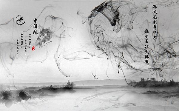 水墨元素,水墨龙,淡雅中国风背景水墨,中国风复古淡雅素材,中国风复古图片
