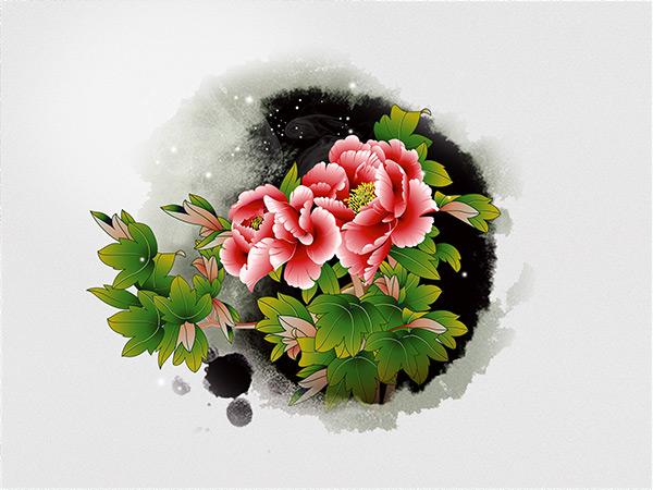 创意元素所需点数: 0 点 关键词: 水墨牡丹图片,水墨,牡丹,富贵花开