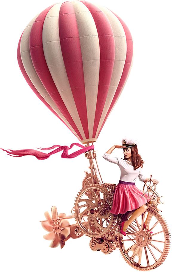 美女热气球