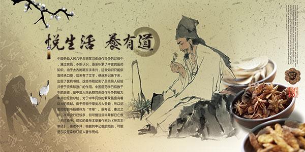 企业文化宣传展板,中医文化展板,海报设计,海报素材,广告设计模板,psd
