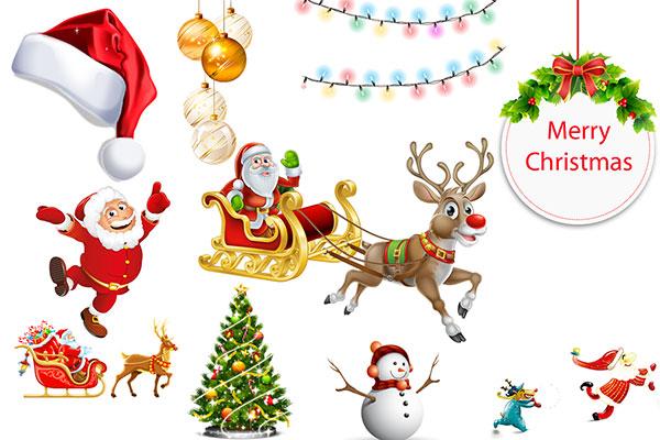节图片素材,圣诞节老人图片,圣诞帽,圣诞老人,圣诞树,圣诞鹿,圣诞铃铛