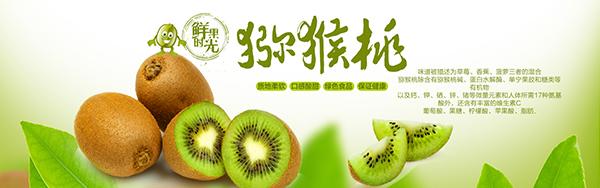 网页所需点数: 0 点 关键词: 淘宝天猫绿色新鲜水果猕猴桃宣传海报ps