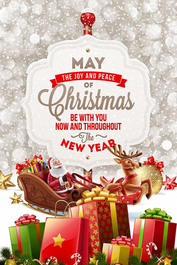 欧式圣诞节海报