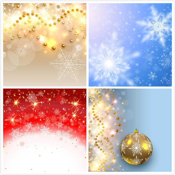 素材分类: 矢量背景所需点数: 0 点 关键词: 雪花梦幻背景,金色渐变