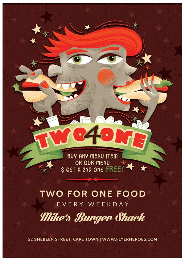 主题海报,食品海报,创意海报设计,美食主题海报,热狗,卡通主题海报