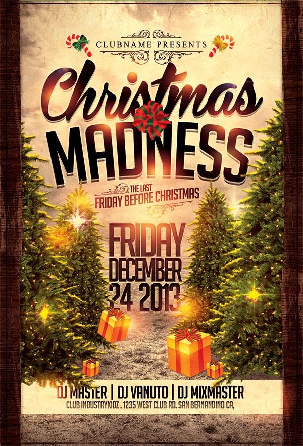 圣诞节海报psd源文件,圣诞节创意海报图片