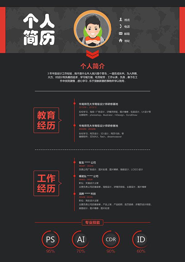 简约个人简历_素材中国sccnn.com图片
