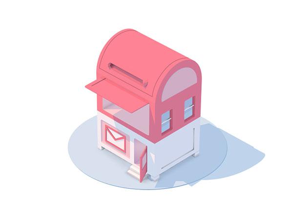 立体邮箱图标