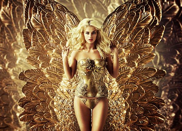 金色人体艺术摄影