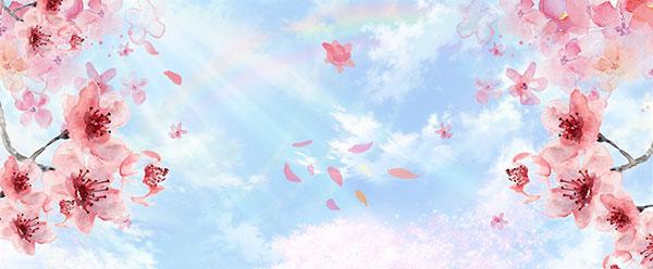 春季海报背景,春季背景,桃花背景,春季,春天,手绘桃花,三生三世十里桃