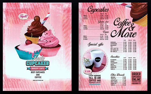 甜品蛋糕价目表图片